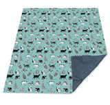 Cats Family PACMAT Picnic Blanket