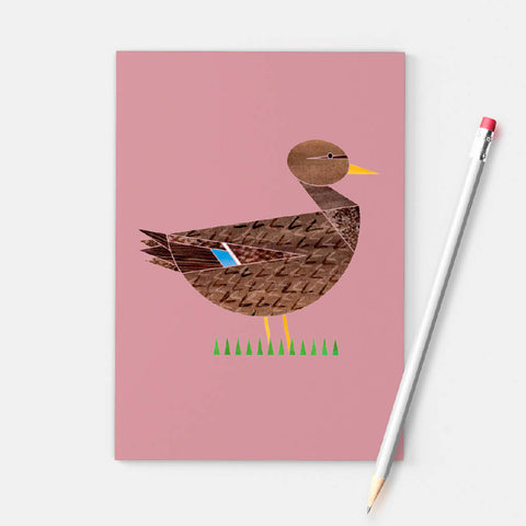 Mrs Mallard Duck A6 notebook printed on recycled paper