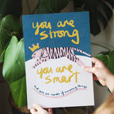 You Are Strong Tiger Print