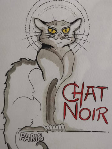 Chat Noir Framed Artwork