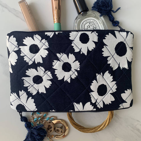 Floral Double Pocket Pouch