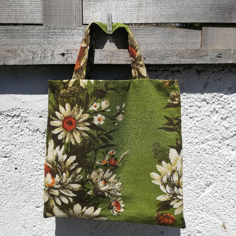 'Almost Square' Shopper - Vintage Flowers