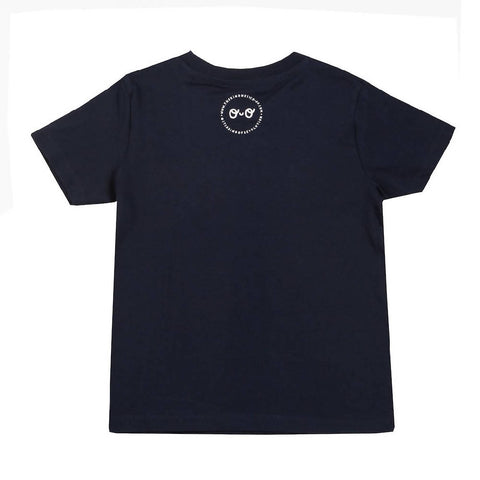 Kids Neon Eyes Short Sleeve T-shirt - Navy