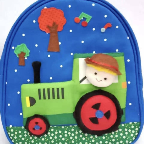 Kids Handmade Backpack Tractor