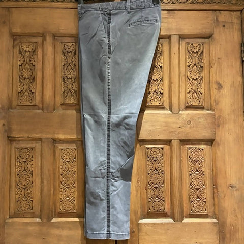 GAP grey chinos with velvet stripe, size UK14