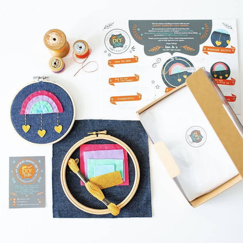 Sew Your Own Rainbow Hoop Kit