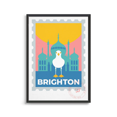 Brighton travel poster