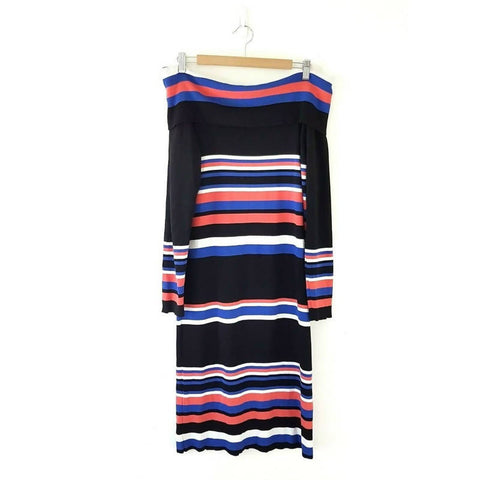 Wallis Off the Shoulder Midi Jumper Dress Large