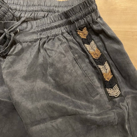 Mint Velvet brushed black joggers, size 12