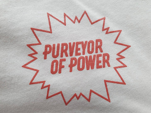 Purveyor of Power Sustainable T-Shirt Vintage White