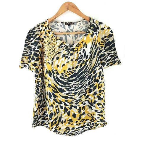 River Island Tiger Leopard Studded Top 12