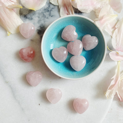 Mini Rose Quartz Heart