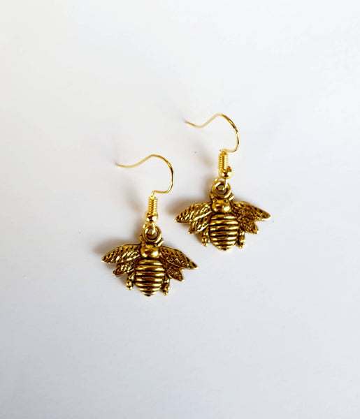 Bee Drop Earrings