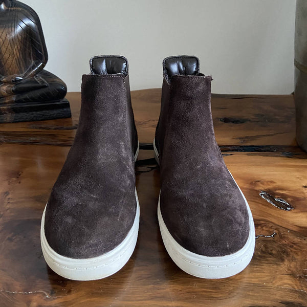Clarks kids' brown suede chelsea boots, size 13G