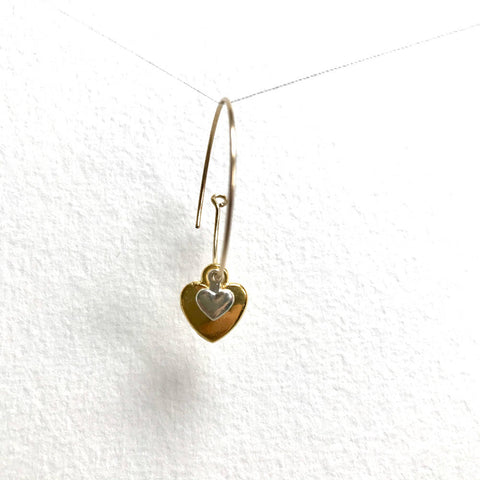 Double Heart Earrings - Original