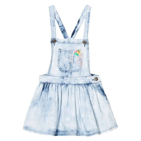 BILLIEBLUSH DENIM DUNGAREE DRESS 4 YEARS