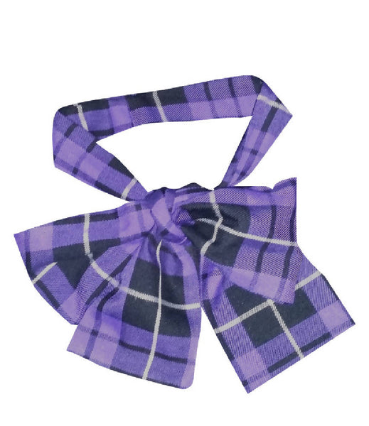 PRETTY DISTURBIA HANDMADE PURPLE CHECKED TARTAN NECK HEAD SCARF TIE PUNK GRUNGE