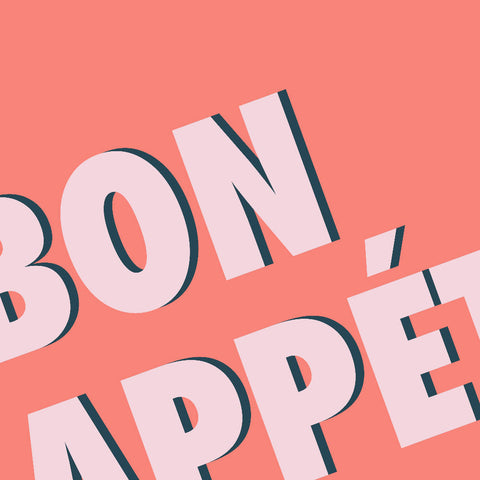 Bon Appétit (coral/pink) | Home Decor - Wall Art - Typography