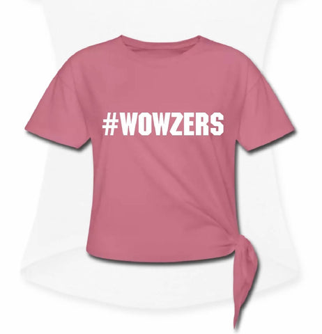 #WOWZERS Knotted T- Shirt