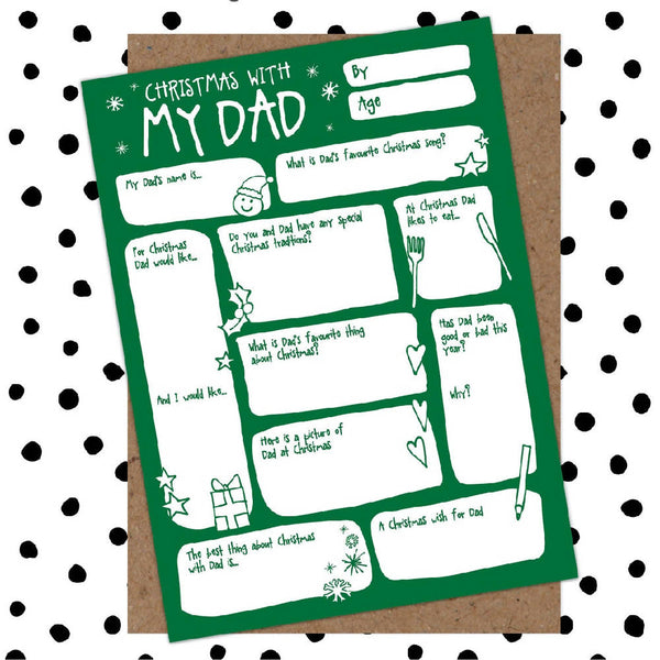 Dad Fill-In-The-Blanks Keepsake Christmas Card