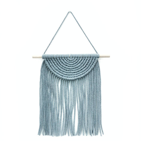 Macrame Semi Circle Wall Hanging [ Denim ]