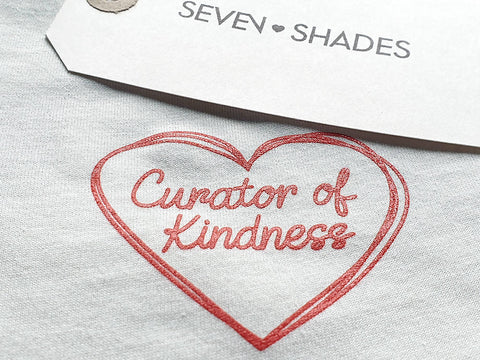 Curator of Kindness Sustainable T-Shirt Vintage White