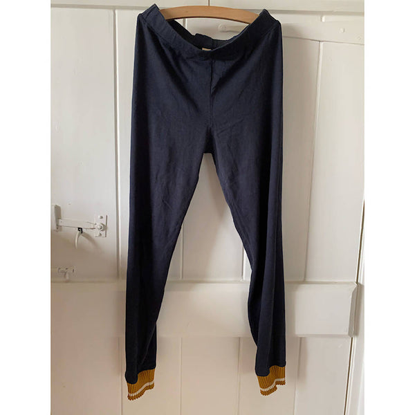 BELLEROSE soft black leggings with gold cuff AGE 10/12
