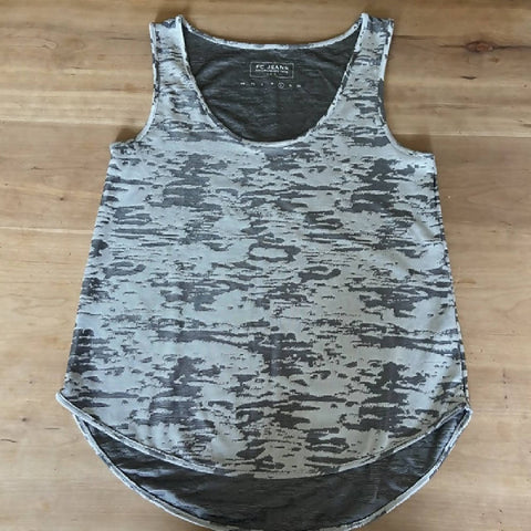 French Connection silver/grey vest, L