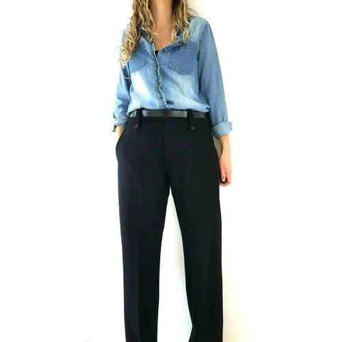 Nicole Farhi Virgin Wool Tailored Trousers 34 W