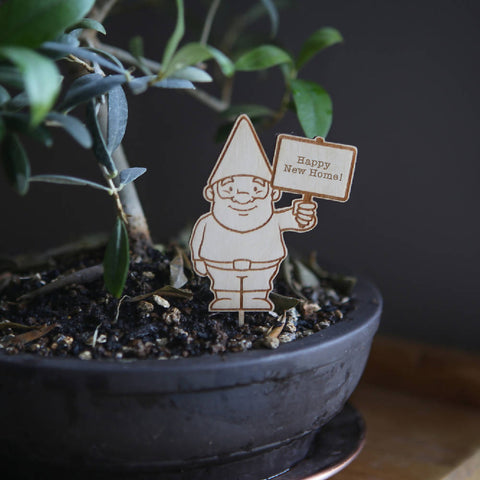 Personalised Plant Pot Gnome - Plant Marker Stake