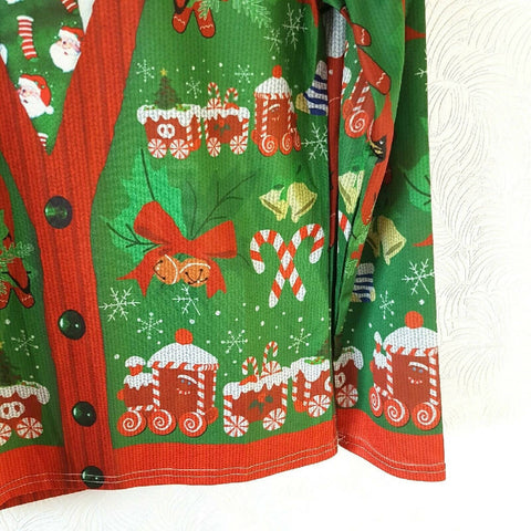 Whatlees Men's Christmas T-shirt Jumper Print Medium