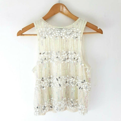 Topshop Beaded Sequin Vest Top 8