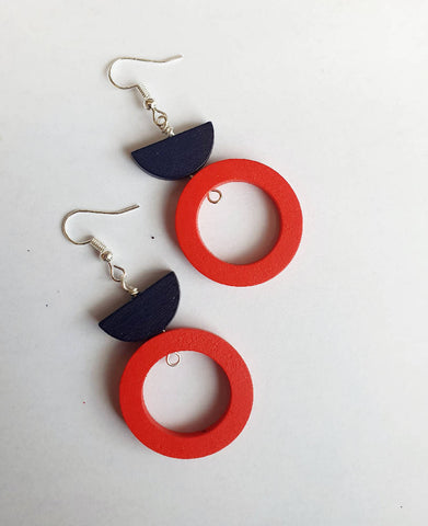 Colour Pop Navy and Red Circles