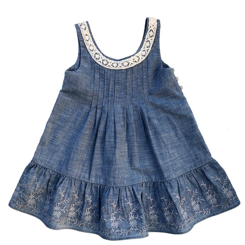RALPH LAUREN DENIM DRESS 2 YEARS