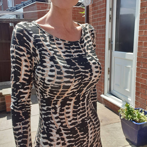 Leopard Print Bodycon Midi Dress