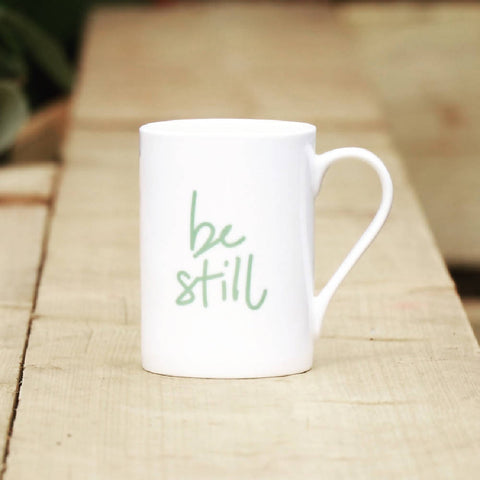 Be Still, bone china, Mindful Mug
