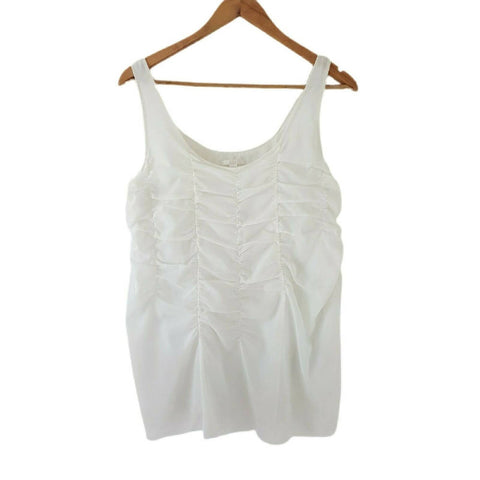 COS White Vest Top Rushed Cotton 12