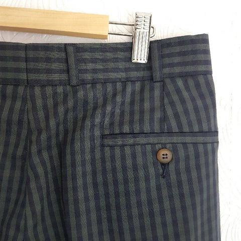 Vintage M&S St Michael Men Checked Trousers W36