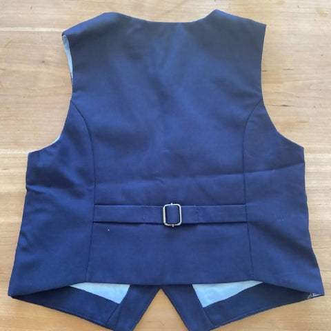 H&M boy's navy tailored waistcoat, age 6-7