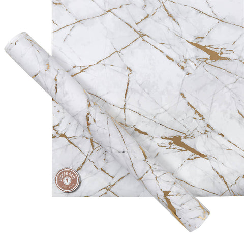 Marble Locker Wallpaper with Magnets for Refrigerator, Desk Whiteboard, Locker Accessories for School, Office Supply Organiser