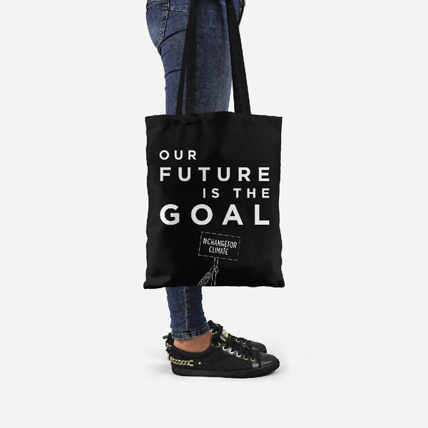 Future Goal tote made from recycled fabric