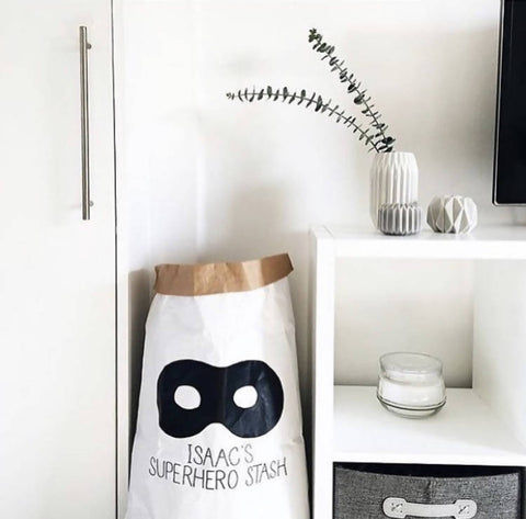 Superhero Stash Paper Storage Bag