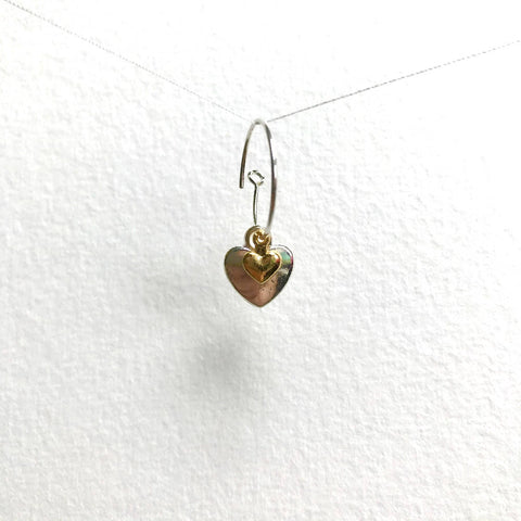 Double Heart Earrings - Mini