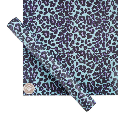 Blue Leopard Locker Wallpaper with Magnets for Refrigerator, Desk Whiteboard, Locker Accessories for School, Office Supply Organiser
