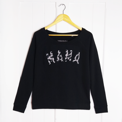 Black Leopard MAMA Scoop Sweatshirt
