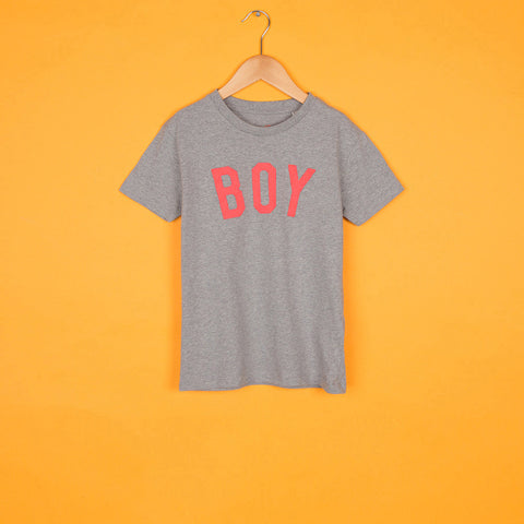 The Grey & Neon BOY Tee