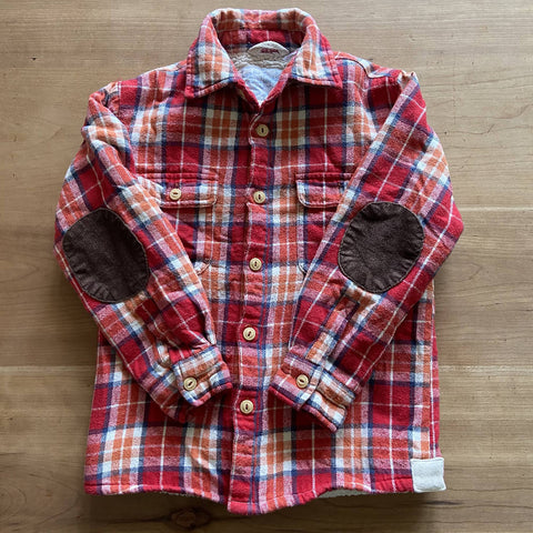 Joules boys' sherpa lined plaid shirt, age 5