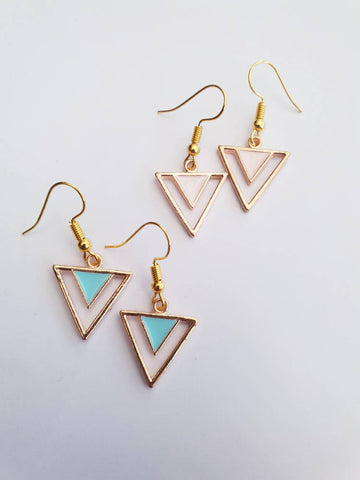 Enamel Triangle Drops