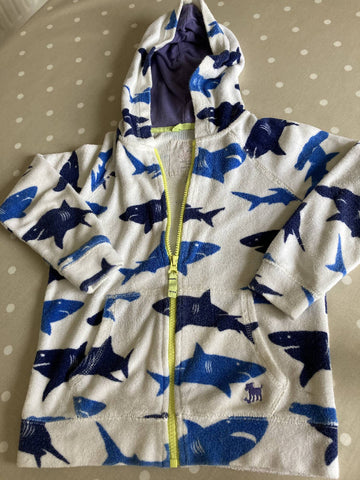 Boden towelling shark jacket 6-7