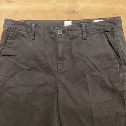 GAP black chinos with side stripe, size UK14